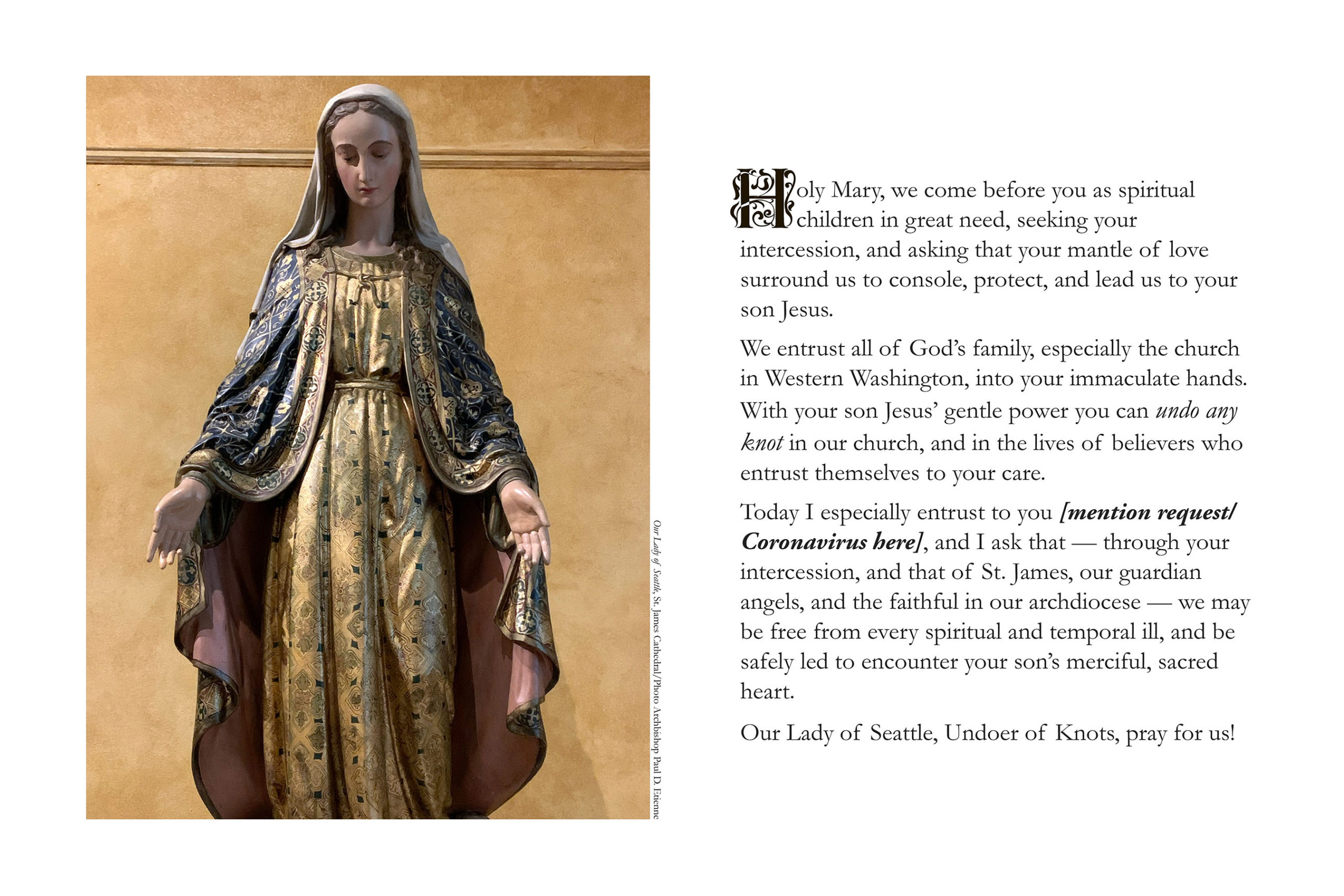 Our Lady of Seattle Prayer