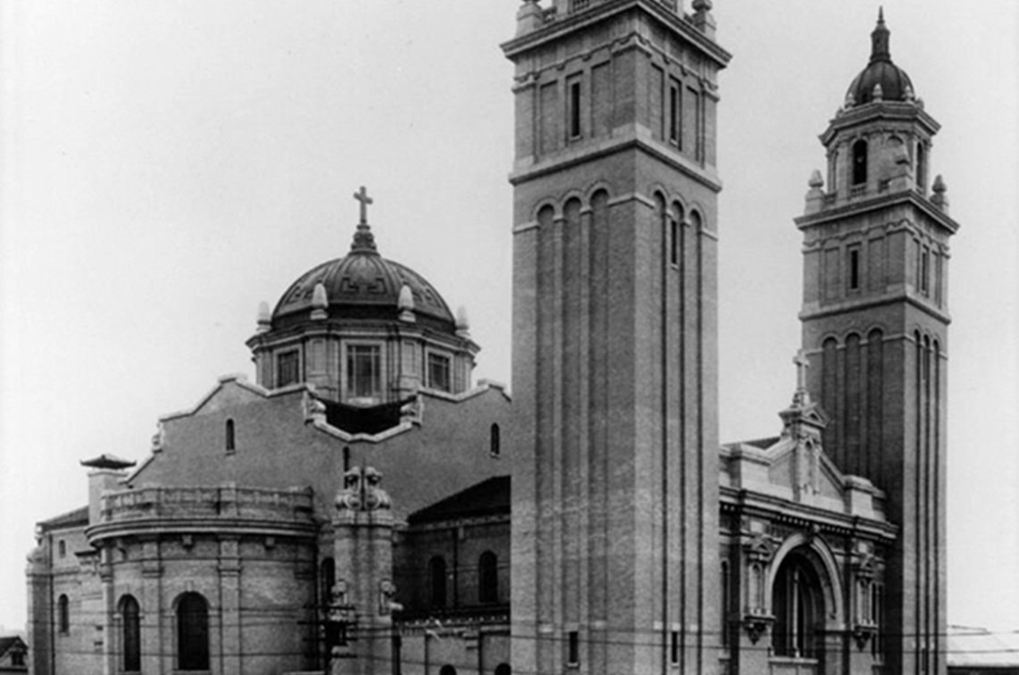 St. James Cathedral. BW. Courtesy Archives of the Archdiocese of Seattle.