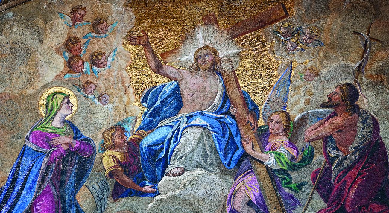 Risen Christ Mosaic from St Mark's Bascilica, Venice_ I1