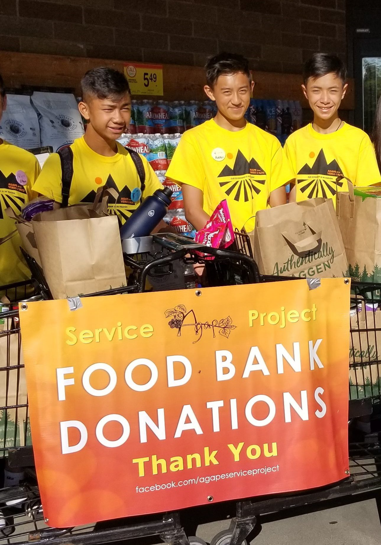 agape, food bank, donate, youth ministry
