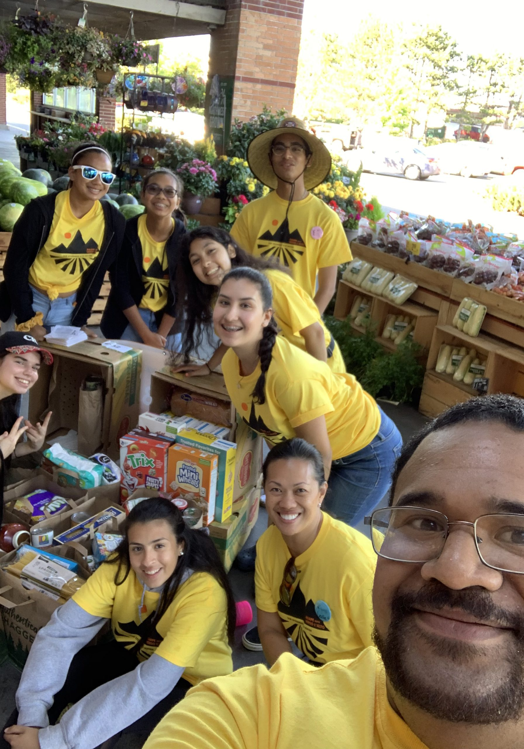 agape, food drive, youth ministry